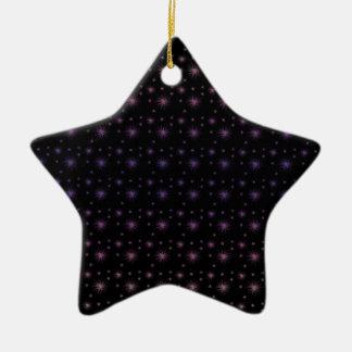 Fireworks Pattern Ceramic Star Ornament