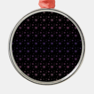 Fireworks Pattern Silver-Colored Round Ornament