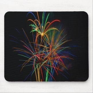 Fireworks photography at dusk mouse pad
