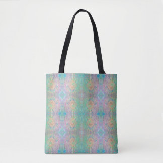 Fireworks rainbow tie dyed tote