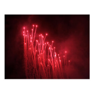 Fireworks Rockets Red Glare Post Card