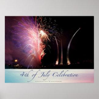 Fireworks Sparkling the Spires Poster