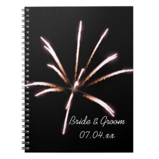 Fireworks Summer Wedding Notebook