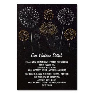 Fireworks Themed Sky Wedding Enclosure Cards