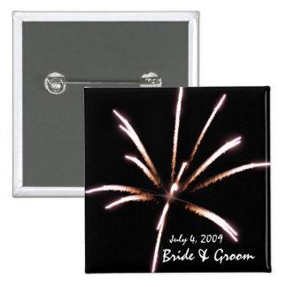 Fireworks Wedding Button