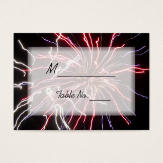 Fireworks Wedding Place Cards