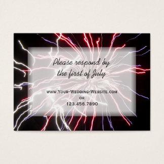 Fireworks Wedding RSVP Response Card