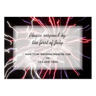 Fireworks Wedding RSVP Response Card Business Card Template