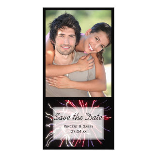 Fireworks Wedding Save the Date Photo Card