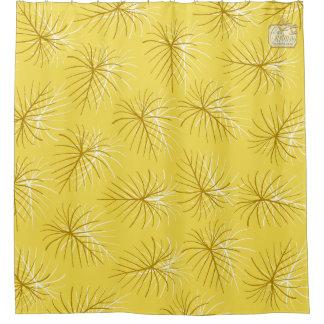 Fireworks Yellow Gold Modern Shower Curtain Set