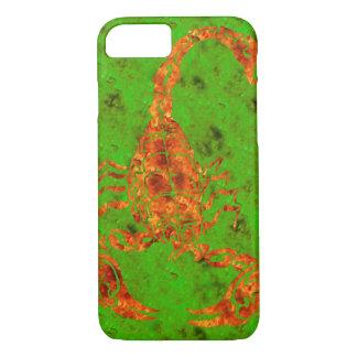 Firey Red/Green Hand-drawn Scorpion iPhone 7 Case
