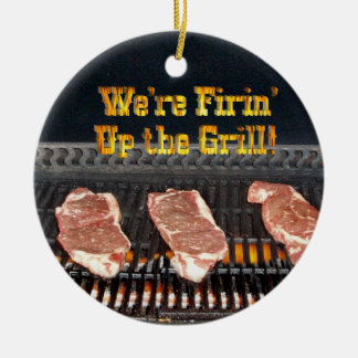 Firing up the Grill! Ceramic Ornament
