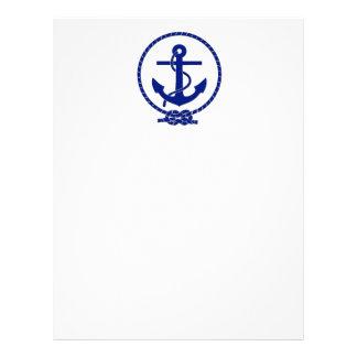 Firmly Anchored Nautical Anchor Design Letterhead