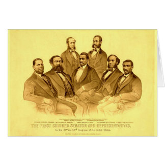 First African American Senator & Representatives Card