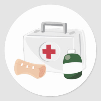 First Aid Classic Round Sticker