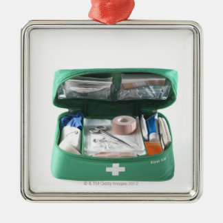 First aid kit. metal ornament