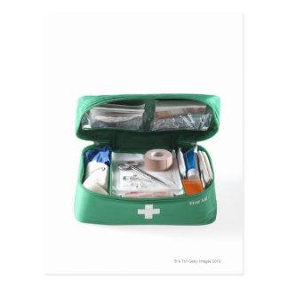 First aid kit. postcard