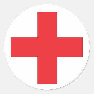 First Aid Kit Sign Round Sticker