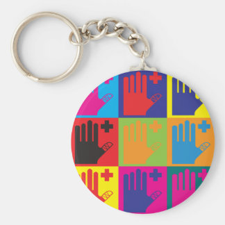 First Aid Pop Art Keychain