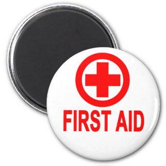 First aid Women's T-Shirts 2 Inch Round Magnet