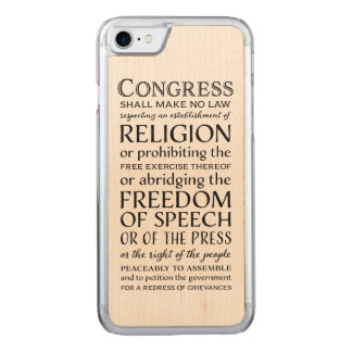First Amendment Freedoms - Defend Your Rights Carved iPhone 8/7 Case
