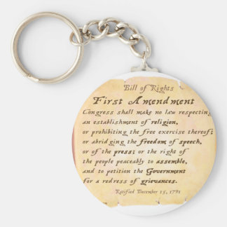 First Amendment Keychain