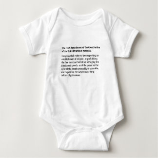 First Amendment of the Constitution Baby Bodysuit
