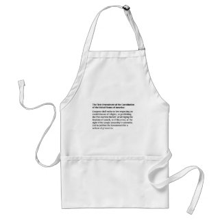First Amendment of the Constitution Standard Apron