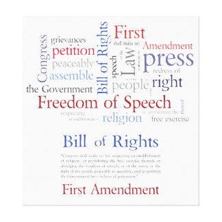 First Amendment Rights - Freedom of Speech Canvas Print