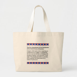 First Amendment Rights Large Tote Bag
