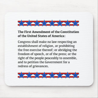 First Amendment Rights Mouse Pad