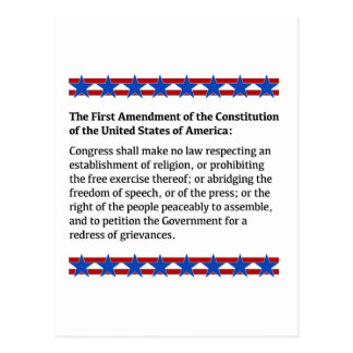 First Amendment Rights Postcard
