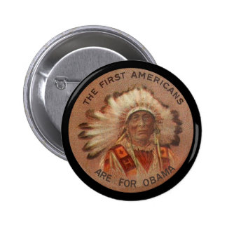 First Americans For Obama 2 Inch Round Button