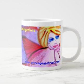 ...first angel...art by Jutta Gabriel... Large Coffee Mug
