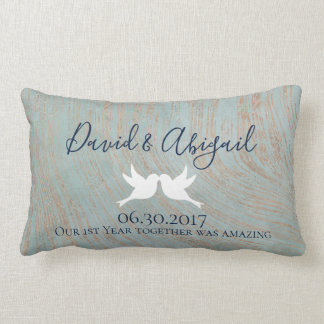 First Anniversary Gift Lumbar Pillow