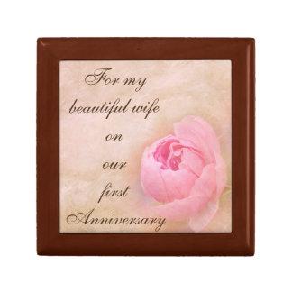 First Anniversary Jewelry Box