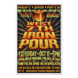 First Annual West 7th Iron Pour Poster 2008