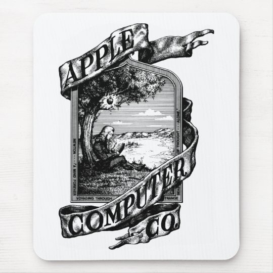 First Apple logo Mouse Pad