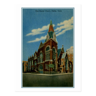 First Baptist Church, Dallas TX vintage Postcard
