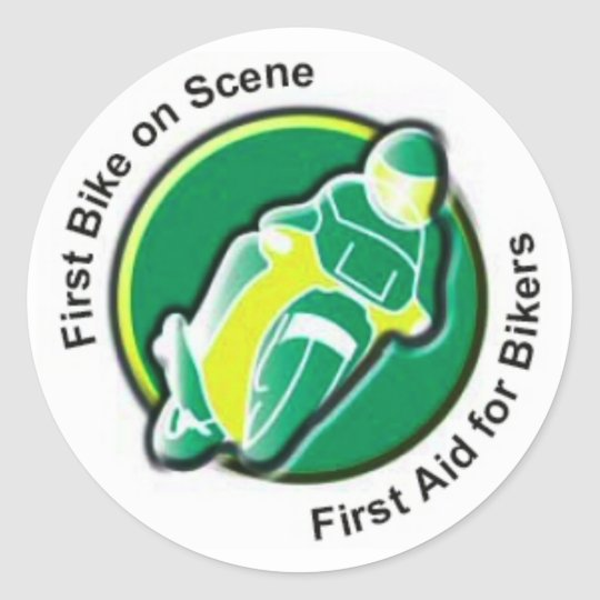 FIRST BIKE ON SCENE STICKER