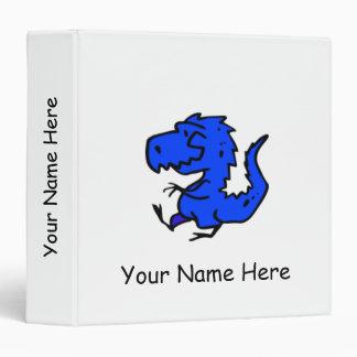 First Binder - Little Blue Dinosaur Binder (White)