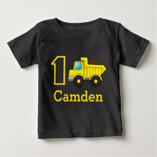 First Birthday 1st 2nd 3rd Construction Truck Car Baby T-Shirt