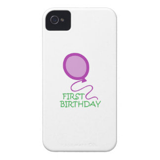 FIRST BIRTHDAY APPLIQUE iPhone 4 CASES