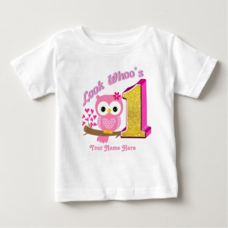 First Birthday Baby Shirt | Owl T-Shirts