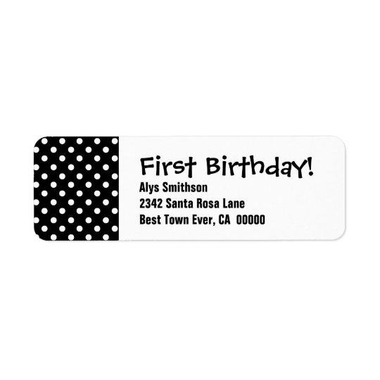 First Birthday Black Polka Dots LA18
