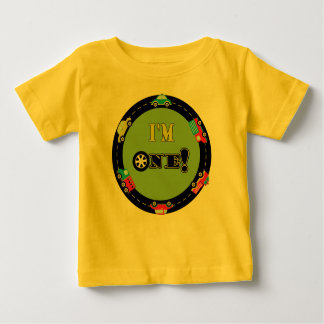 First Birthday Cars Baby T-Shirt