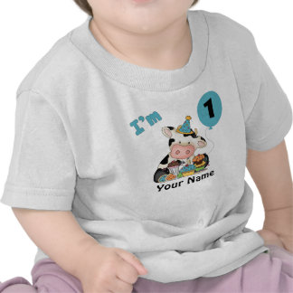 First Birthday Cow Shirts