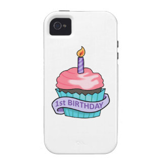 FIRST BIRTHDAY CUPCAKE Case-Mate iPhone 4 COVERS