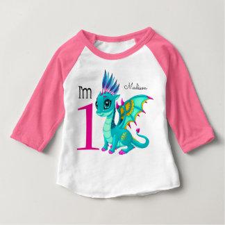 First Birthday Cute Dragon Baby T-Shirt