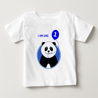 First birthday cute panda custom text baby T-Shirt